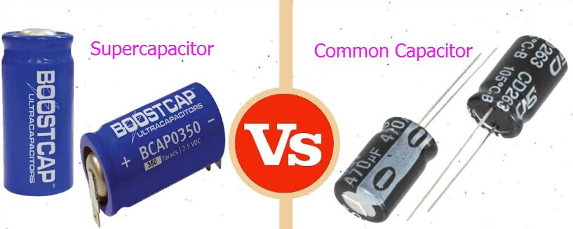 What is the difference between a capacitor and supercapacitor based