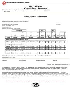 Shenzhen Grande Electronic UL Certificates